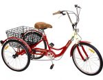 Komodo Cycling 24 inch 6-speed Adult Tricycle 7002