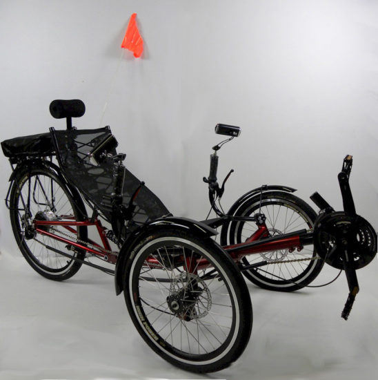 ERT-36 Electric Recumbent Foldable Tricycle
