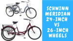Schwinn Meridian 24 vs 26 inch Wheels