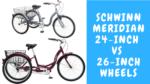 Schwinn Meridian 24 vs 26 inch Wheels